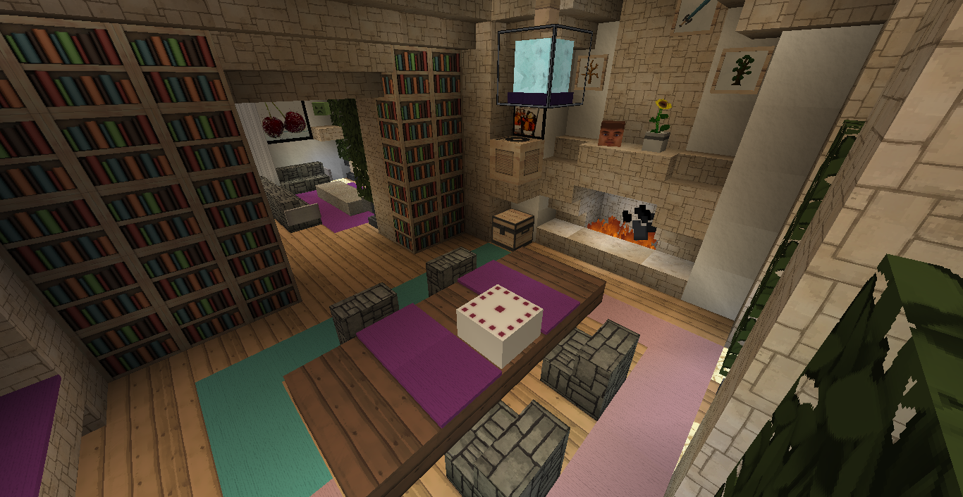 decoration maison minecraft interieur. Black Bedroom Furniture Sets. Home Design Ideas