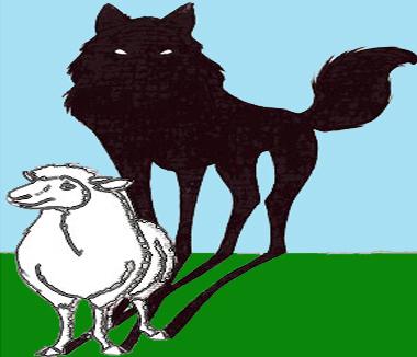 Loup brebis