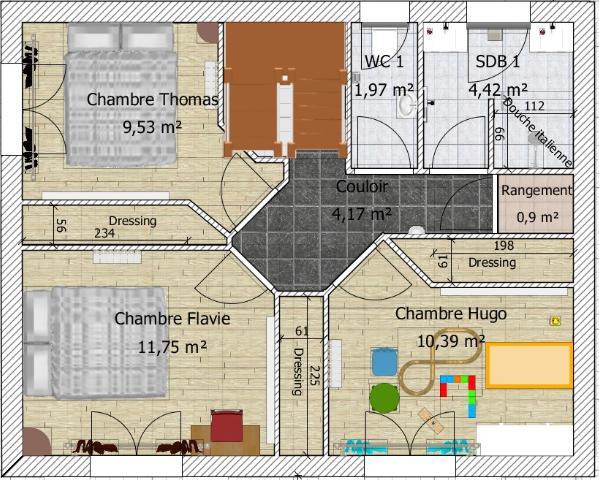 Plan De Maison 100M2 3 Chambres. Amazing Plan Maison M Chambres